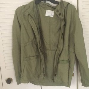 Green forever 21 anorak jacket